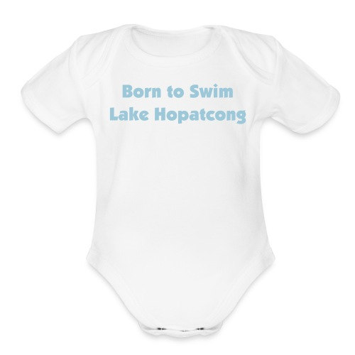 Born to Swim Lake H - Organic Short Sleeve Baby Bodysuit