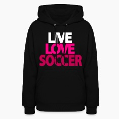 Girls Live Love Soccer Hooded Sweatshirt