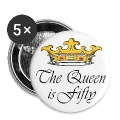 50th birthday gift, The queen is fifty crown!