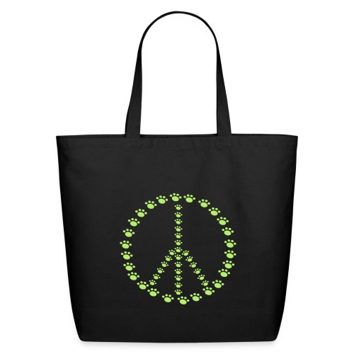 Peace for Paws Eco Friendly Tote Bad - Eco-Friendly Cotton Tote