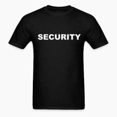 Black Security T-Shirts