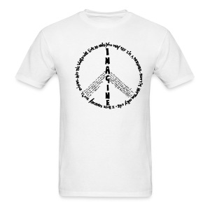 Imagine Peace(White) - Men's T-Shirt