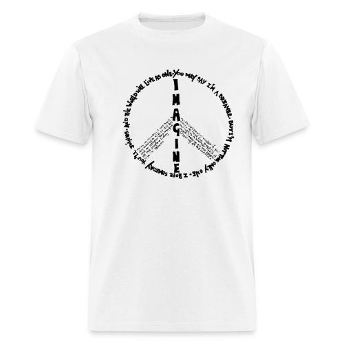 Imagine Peace(White) - Men's T-Shirt