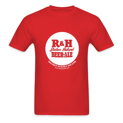 R&H Staten Island Brewery - Standard Weight Shirt - Red - Men's T-Shirt