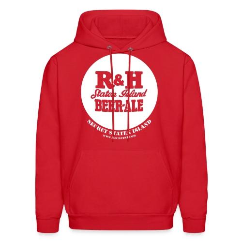 R&H Logo Staten Island Beer - Ale Hooded Sweatshirt - Red - Men's Hoodie