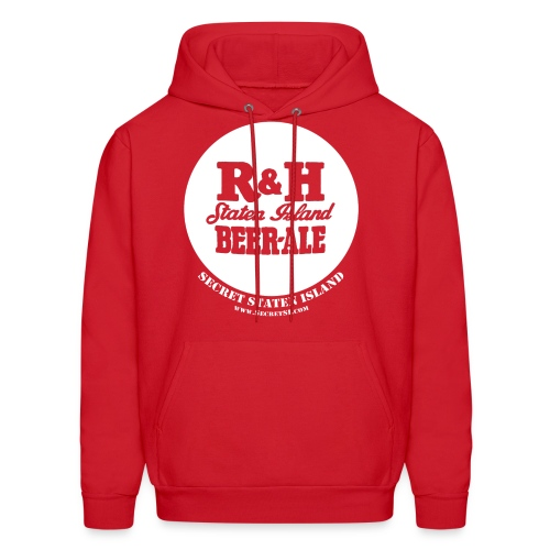 R&H Logo Staten Island Beer - Ale Hooded Sweatshirt - Red - Men's Hoodie