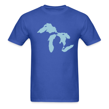 Royal blue Great Lakes T-Shirts