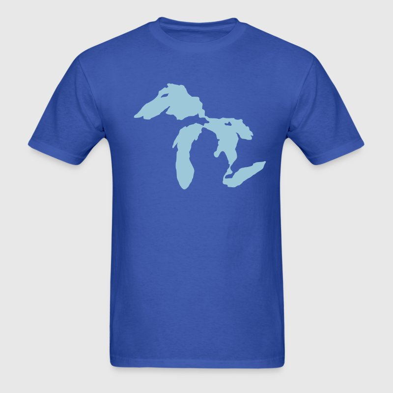 Royal blue Great Lakes T-Shirts - Men's T-Shirt