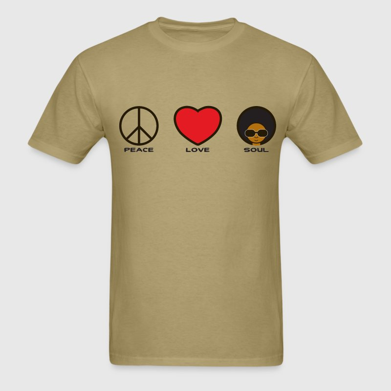 Peace, Love, Soul - Men's T-Shirt