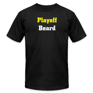 T-Shirts ~ Men's T-Shirt by American Apparel ~ Playoff Beard -Men's American Apparel T-shirt