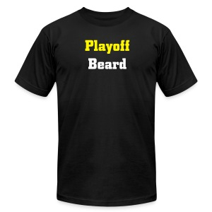 Playoff Beard -Men's American Apparel T-shirt - Men's T-Shirt by American Apparel