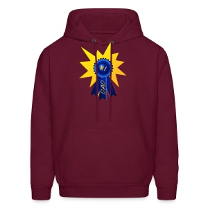 Blue Ribbon Dad with a splash - Men's Hoodie