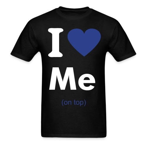 I heart me (on top) - Men's T-Shirt