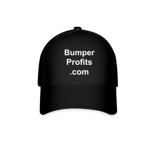 Hat with stacked domain name front only. - Baseball Cap