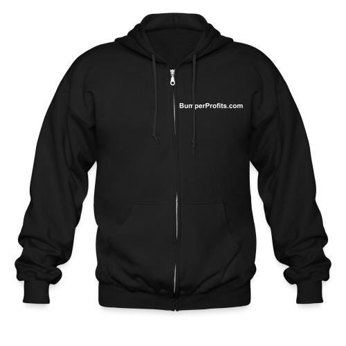 Choose your own color.  Domain on front only. - Men's Zip Hoodie