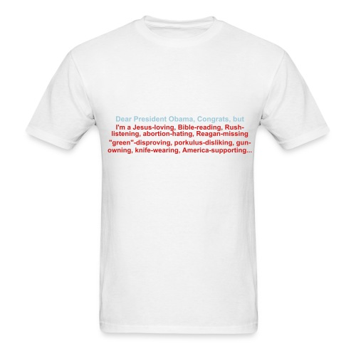 Dear President Obama (With Shoulder Text) - Men's T-Shirt