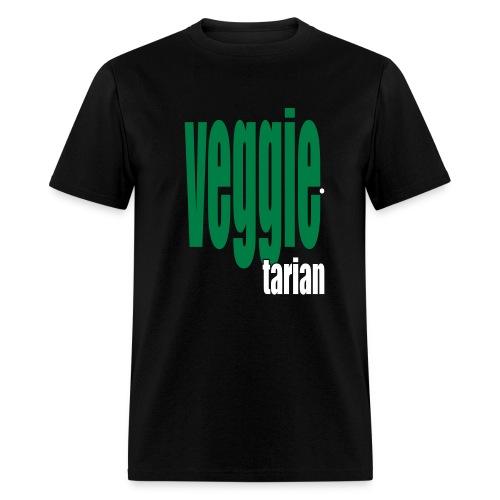WUBT 'Veggietarian' Men's Standard Tee, Black - Men's T-Shirt