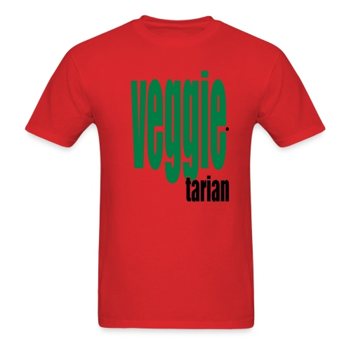 WUBT 'Veggietarian' Men's Standard Tee, Red - Men's T-Shirt
