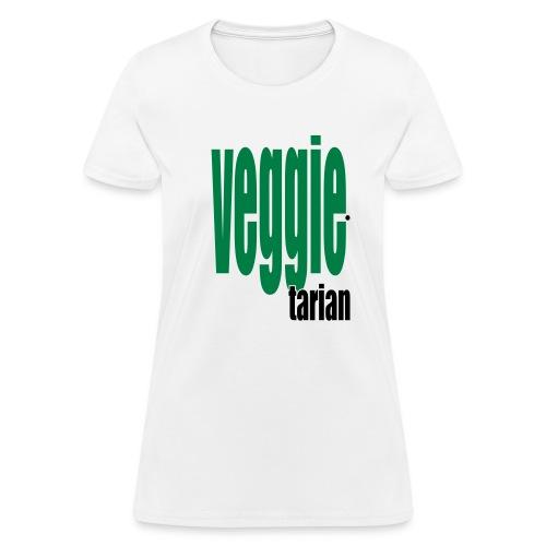 WUBT 'Veggietarian' Women's Standard Tee, White - Women's T-Shirt