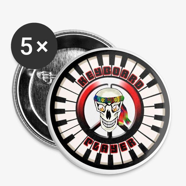 Old Rocker Dude Designs Skull Circular Keyboard Player 5 Pack