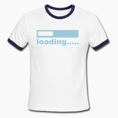 White/navy computer T-Shirts