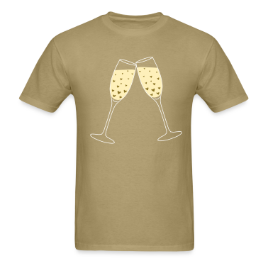 Khaki Toast Love Bubbles T-Shirts