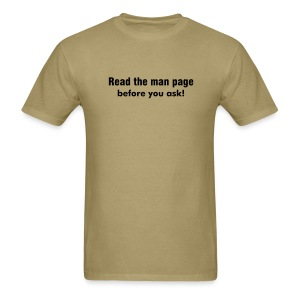 Man Page (on Light Choice) - Men's T-Shirt