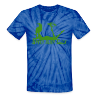T-Shirts ~ Unisex Tie Dye T-Shirt ~ Green Alien Chick - Planet Girl - Unisex Tie Dye T (Sparkle Graphic)
