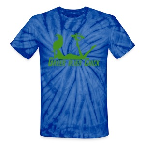 Green Alien Chick - Planet Girl - Unisex Tie Dye T (Sparkle Graphic) - Unisex Tie Dye T-Shirt