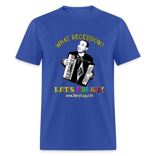 Men's Standard Weight T-Shirt/Blue - Men's T-Shirt