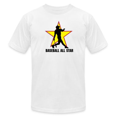White baseball ALL STAR team T-Shirts