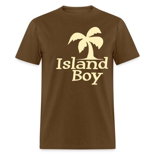 Men's Palm Logo (Brown) - Men's T-Shirt