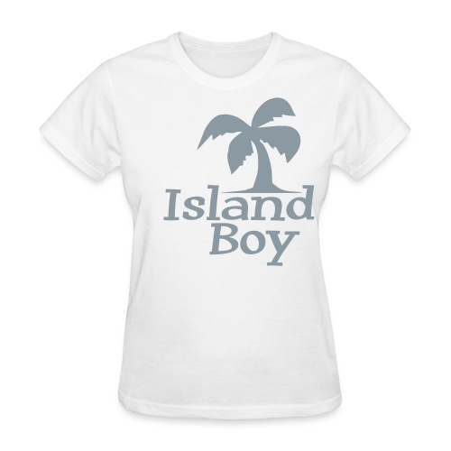 Ladies Palm Logo (White) - Women's T-Shirt