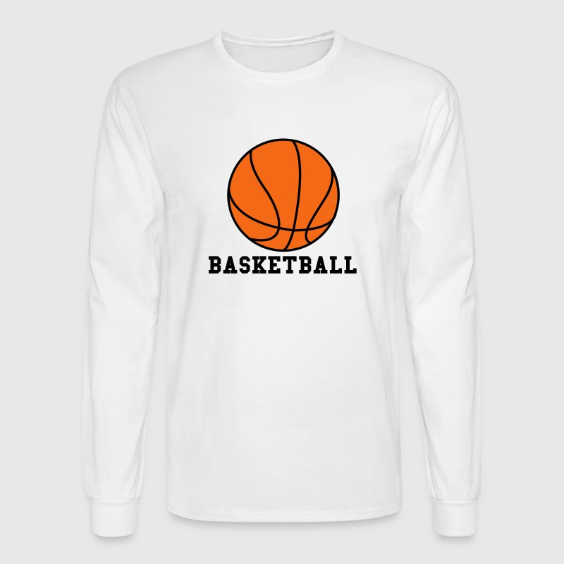 White Basketball. Make your own Design Long Sleeve Shirts - Men's Long Sleeve T-Shirt