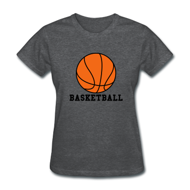 Deep heather Basketball. Make your own Design Women's T-Shirts