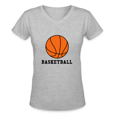 Gray Basketball. Make your own Design Women's T-Shirts