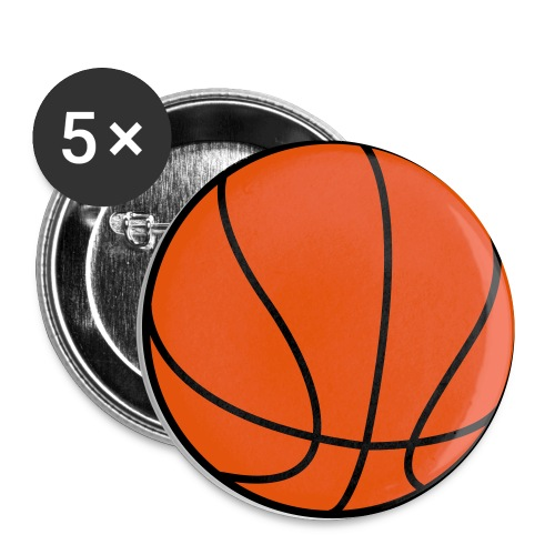 Basketball for Team Shirts - Small Buttons