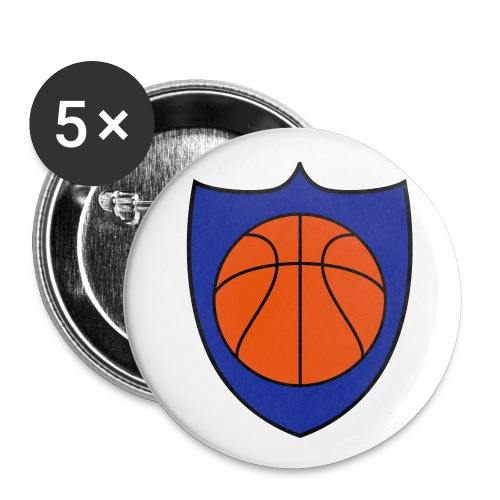 Basketball Champions Shield Team Shirts - Small Buttons