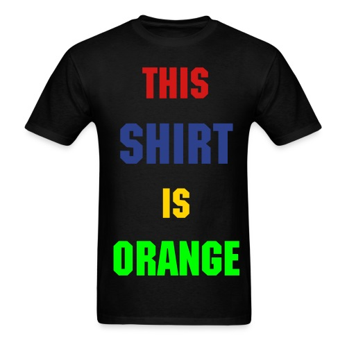 Orange Shirt - Men's T-Shirt