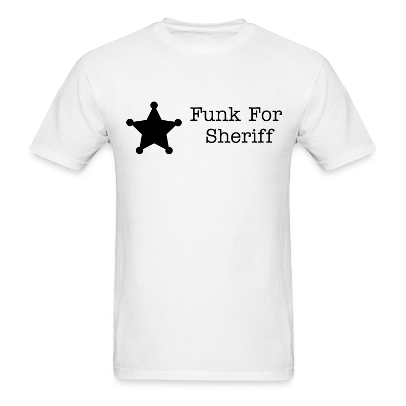 Funk For Sheriff Star Standard Men's Tee - Men's T-Shirt