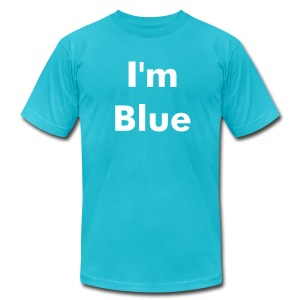I'm Blue - Men's T-Shirt by American Apparel