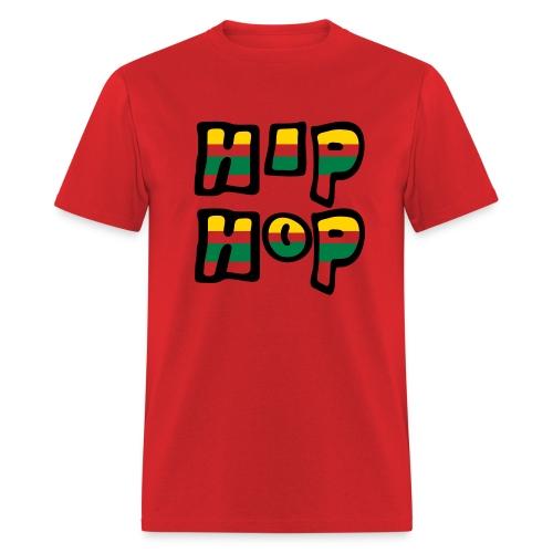 WUBT 'Hip Hop Stripes' Men's Standard Tee, Red - Men's T-Shirt