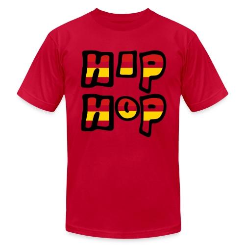 WUBT 'Hip Hop Stripes' Men's AA Tee, Green - Men's Fine Jersey T-Shirt
