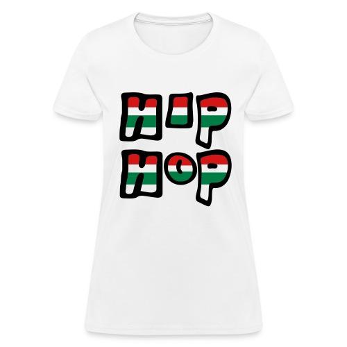 WUBT 'Hip Hop Stripes' Women's Standard Tee, White - Women's T-Shirt