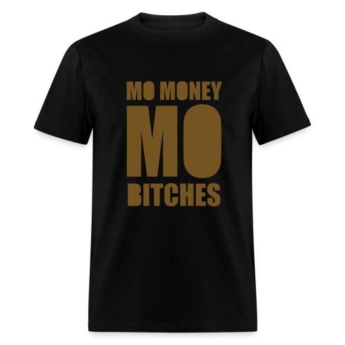 Mo Money, Mo Bitches - Gold Sparkle - Men's T-Shirt