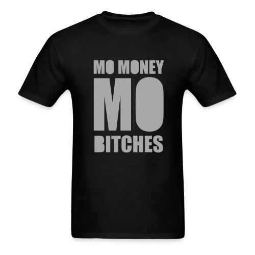 Mo Money, Mo Bitches - Silver Sparkle - Men's T-Shirt