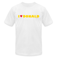 T-Shirts ~ Men's T-Shirt by American Apparel ~ Men's AA T-Shirt - I Love Donald