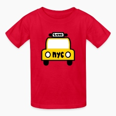 Red Taxi Cab NYC Retro Kids' Shirts