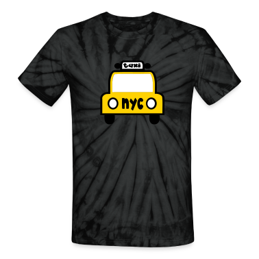 Spider black Taxi Cab NYC Retro T-Shirts