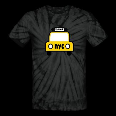 Spider black Taxi Cab NYC Retro T-Shirts